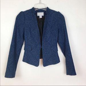 H&M Blue Crop Blazer Size 2